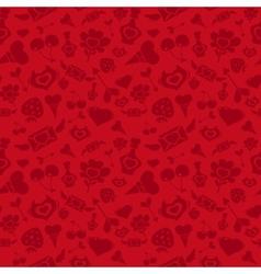 Sweet red valentine pattern vector