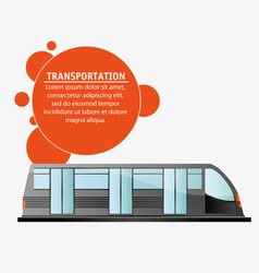 Transport public electric train design vector