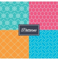 Vintage ornament and rood tile textures vector