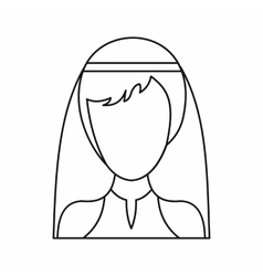 Beautiful bride icon outline style vector