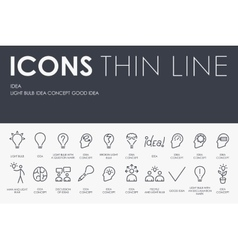 Idea thin line icons vector