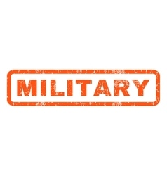 Military rubber stamp vector