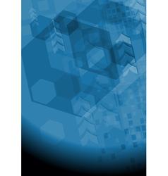 Modern dark blue background vector image