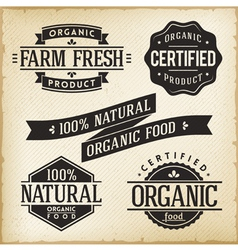 Organic food labels vector