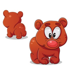 Bear front and back vector