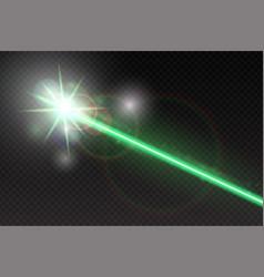 Abstract green laser beam magic neon light lines vector
