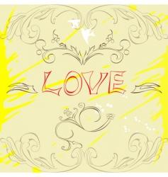 inscription love vector image