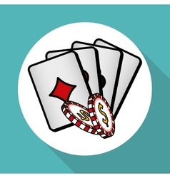 Casino chips design vector