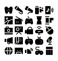 Multimedia icons 5 vector