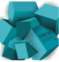 Abstract of blue 3d cubes structure vector