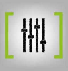 adjustment music line sign black scribble vector image