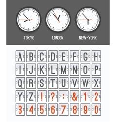 Airport arrival table alphabet vector