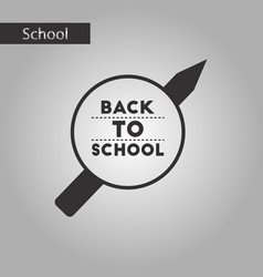 Black and white style icon back to school pencil vector