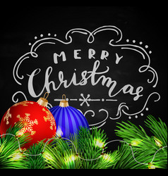 black chalkboard for christmas vector image vector image