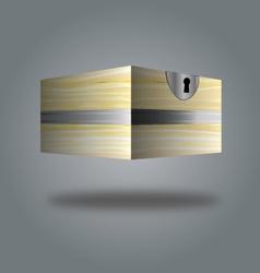 box wooden box 3d vector image vector image