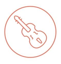 Cello line icon vector