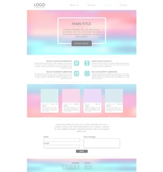 Clean minimalistic landing page vector image vector image