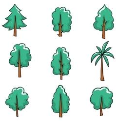 Doodle set of tree art vector