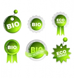 ecology bio signs vector image vector image