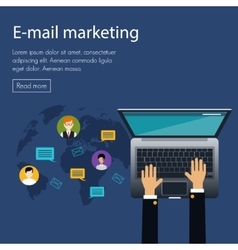 flat design concept of e-mail marketing vector image