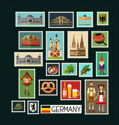 german stamps vector image vector image