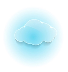 Glossy shiny dream cloud vector image