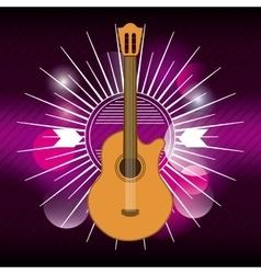 guitar icon Music and Sound design vector image