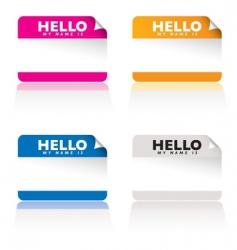 hello name tag vector image