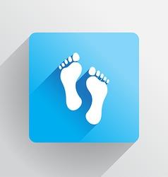 Human footprints vector