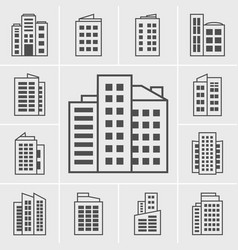 Icons building vector