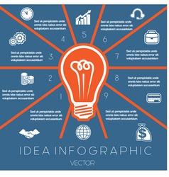 Idea business concept light bulb infographic 10 vector