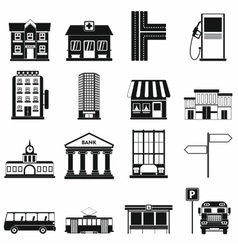 Infrastructure set icons vector