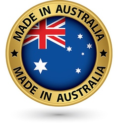 Made in australia gold label vector