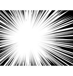 Manga comic book flash explosion radial lines vector image vector image