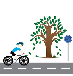 Men are cycling vector image