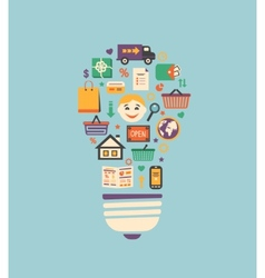 Online shopping innovation idea vector image