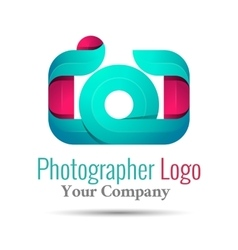 Photography studio photographer photo logo vector