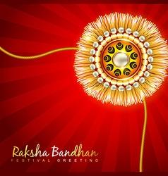 Raksha bandhan festival design vector