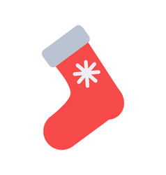 Santa s red sock for putting christmas presents vector