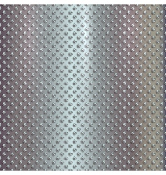 Silver grille on steel background vector