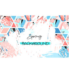 spring sale design collection of six hand drawn vector image vector image