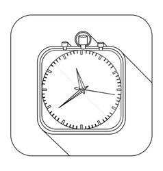 Square shape with silhouette chronometer vector