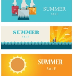 Summer sale vintage bannerscards vector