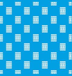 Three literary books pattern seamless blue vector