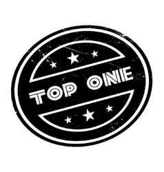 Top one rubber stamp vector