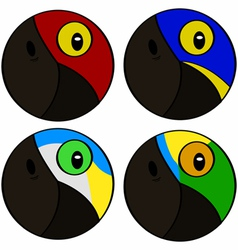 Tropical birds vector image vector image