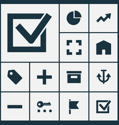 User icons set collection of home increase vector