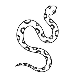 Venomous snake icon outline style vector