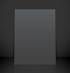 Vertical black poster flyer mockup vector