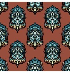 Vintage damask floral seamless design vector image